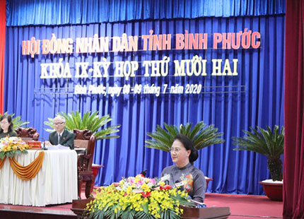 Chủ tịch Quốc hội Nguyễn Thị Kim Ngân: Bình Phước cần đón làn sóng đầu tư mới