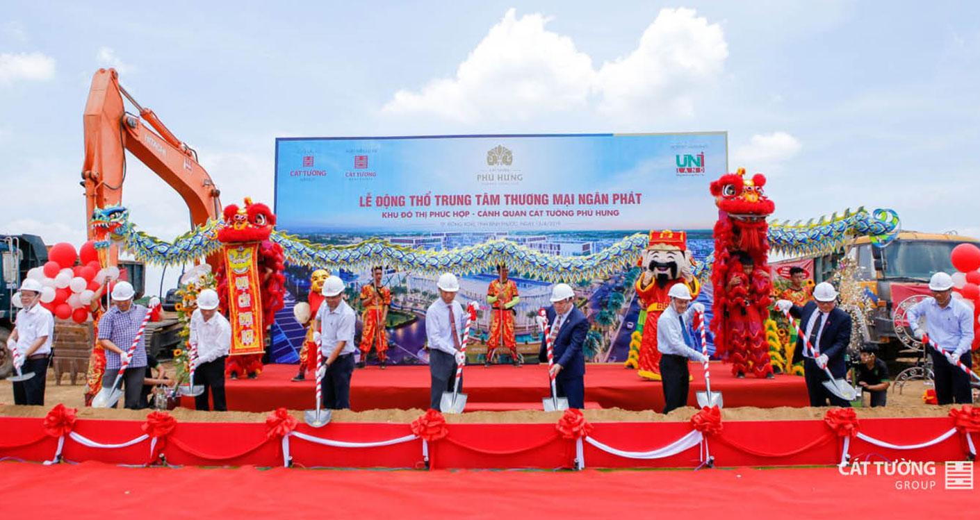 Lễ động thổ Trung Tâm Thương Mại Ngân Phát tại dự án Cát Tường Phú Hưng
