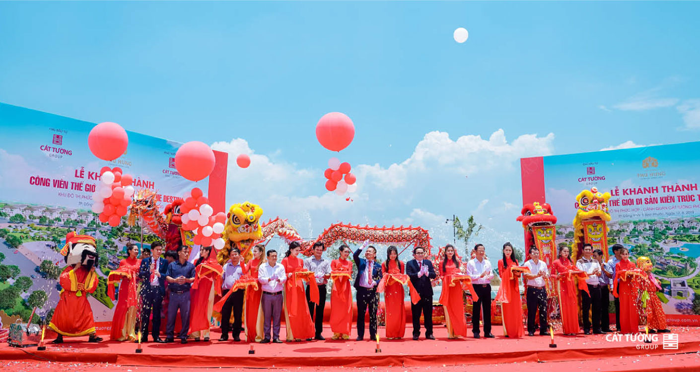 Lễ Khánh thành công viên Thế Giới Di Sản Kiến Trúc The Destina tại Khu Đô Thị Cát Tường Phú Hưng