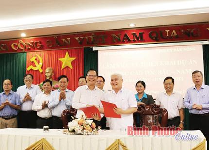 Bình Phước – Đắk Nông phối hợp đầu tư xây dựng tuyến đường cao tốc